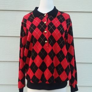 Red and Black Alfred Dunner Sweater